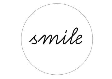 hoop wall art-smile-pattern-min
