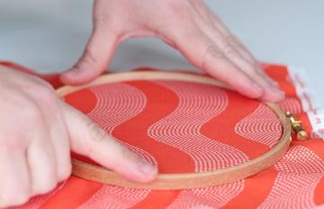 hoops wall art-hoop the fabric