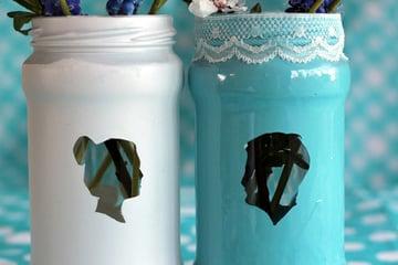 Silhouette vases tutorial