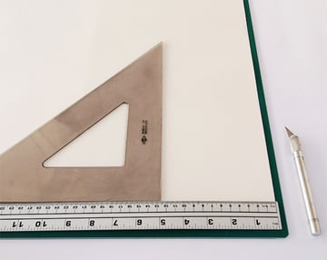 Cut the 3 sheets of drawing paper into 127x1524cm long-grain pages