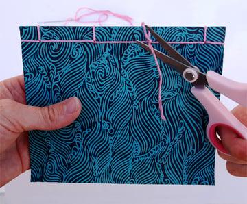 Cut the excess thread