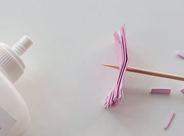 21-glue stem-paper flowersb