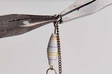27-add chain-paper geo necklace