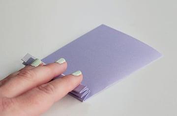 3-fold zig zag b-paper flowersb