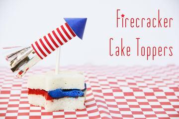 4th of July Firecracker Cake Topper Tutorial