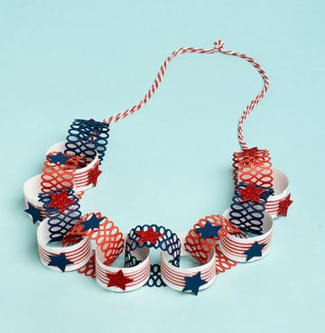 4th of July Paper Lei Necklace Tutorial