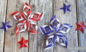 4th of July Star Paper Decorations Tutorial
