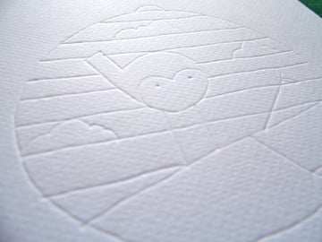 papercut bauble indentations side