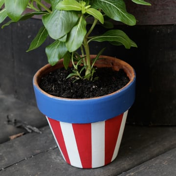 Uncle Sam Pot Tutorial for 4th of July