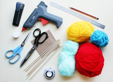 What you'll need to make Pom Pom Cake Toppers by Kitiya Palaskas on Crafttuts+