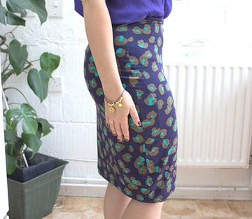 finished skirt sideways