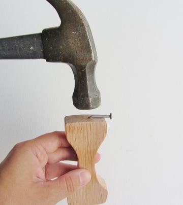 Bottler Opener Nail in Place