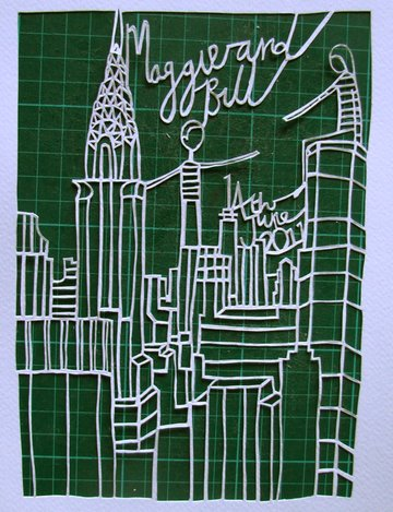 New York Papercut by Robyn Wilson Owen via Tuts+
