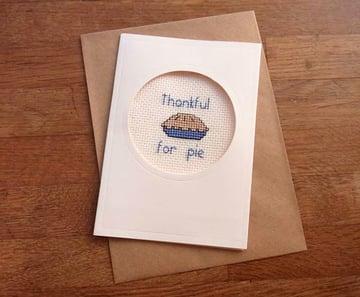 Cross Stitch Thanksgiving Card Tutorial