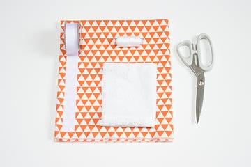 supplies for DIY apron