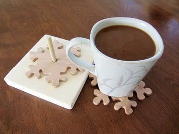Wooden Snowflake Coaster Tutorial