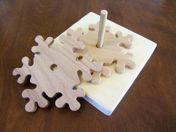 Wooden Snowflake Coasters Tutorial