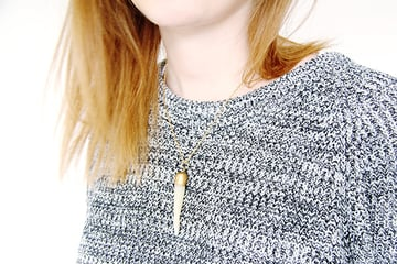 Horn Pendant completed necklace