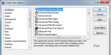 Add Advanced Direction Object