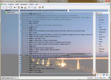 An IRC client displaying #construct on irc.esper.net
