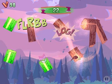 This is an image from Owlchemy Labs' most recent game, Jack Lumber. It was made entirely with Unity, which allowed them to focus on design and gameplay and not on making the intricacies of touch gameplay work correctly.