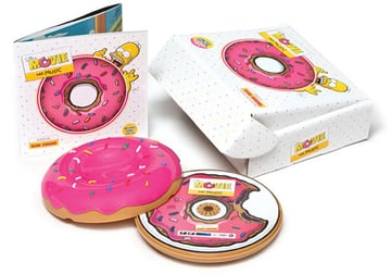 This is actually the packaging for the soundtrack from the Simpson Movie, and so isn't related to games - but it is some of the best packaging I've ever seen.