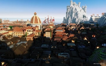 Some Game of Thrones in Minecraft. People are seriously obsessed with this game.