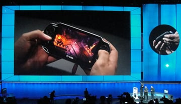 The PS Vita features a rear touch pad. Photo by popculturegeek.