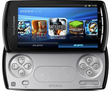 The Xperia Play smartphone features a similar gamepad layout to the PS Vita. Picture from Sony Mobile.