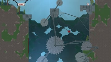One of the easier levels in Super Meat Boy, still filled with deadly traps