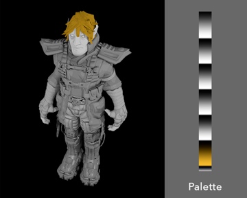 Game development tutorial about customising palettes