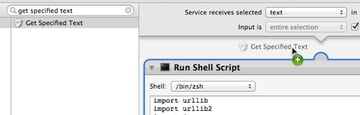 """Add a new """"Get Specified Text"""" action for testing the service"""