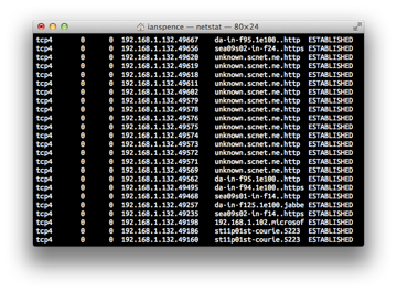 Testing for open ports in Terminal