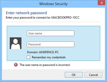 Enter your MacBook Pro login here.