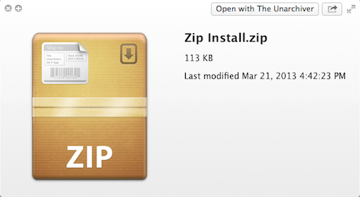 A ZIP archive with install files inside.