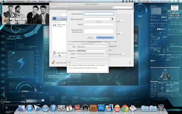 Using the Mac's built-in password generator.