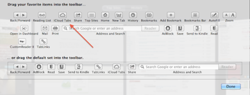 Just drag the iCloud Tabs button to the toolbar to begin.