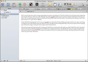 Scrivener Main Screen