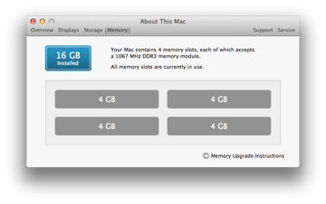 Click on the Memory tab fourth one along to reveal how much memory is installed in what sort of configuration