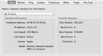 Network Utility can help you find out whether your Mac is taking advantage of the fastest possible Wi-Fi technology