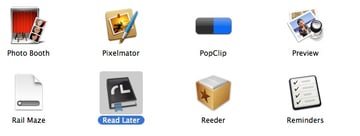 View of the downloading app via the Applications folder
