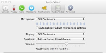 Apps such as Skype will detect the connected Bluetooth device for you to use
