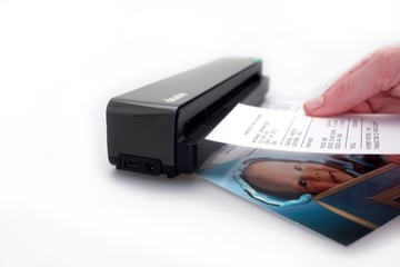 Scan your items with Doxie which will automatically save them to the SD card