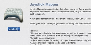 Joystick Mapper is available from the Mac App Store