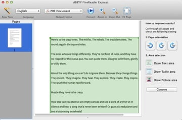 ABBYY is one of the simplest apps to use when it comes to OCR