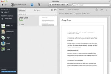 Evernote supports attachments for notes and any images will automatically be OCRd by their servers