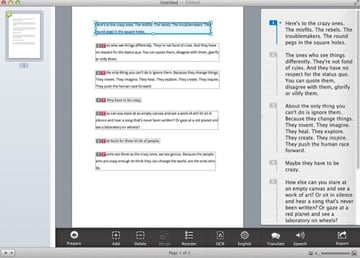 Prizmo can OCR documents quickly and accurately