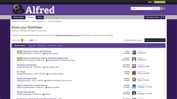 Alfred's Share Your Workflows Subforum