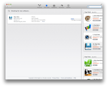 Gesture support in the App Store helps you hop around faster.