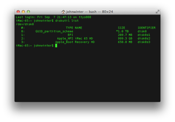 Recovery Partition in Terminal